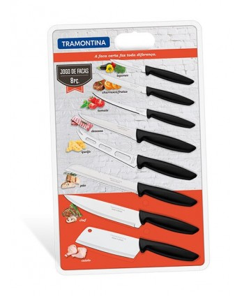 8PCS KNIVES SET PLENUS BLACK
